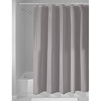 InterDesign Fabric Waterproof Shower Curtain Liner72 By 72 Inches Gray