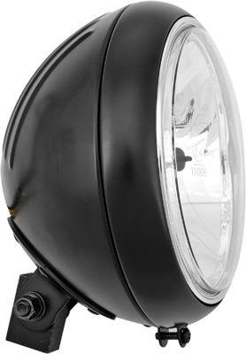 HardDrive L20-6084GDBE Black 7'' Headlight Grooved Shell