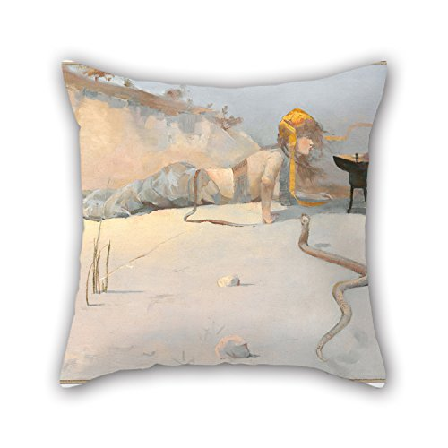 The Oil Painting Charles Conder - Hot Wind Throw Pillow Case Of ,16 X 16 Inches / 40 By 40 Cm Decoration,gift For Relatives,living Room,christmas,indoor,her,pub (both Sides) -