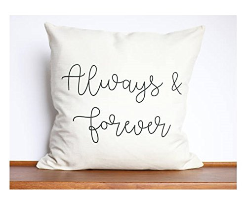 Always and Forever Pillow Cover | Family Pillow | Custom Pillow Cover | Family Home Decor | Anniversary Gift | Eternal Family | Personalized Gift | - Print Cheetah Vans