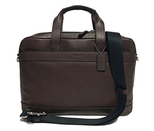 COACH Men's F54801 $450 Leather Hamilton Briefcase Crossbody Laptop Bag, Mahogany by Coach