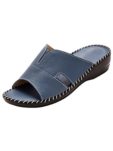 Pediconfort Large blu Pelle In pantofole Blu Extra q4wgqrp