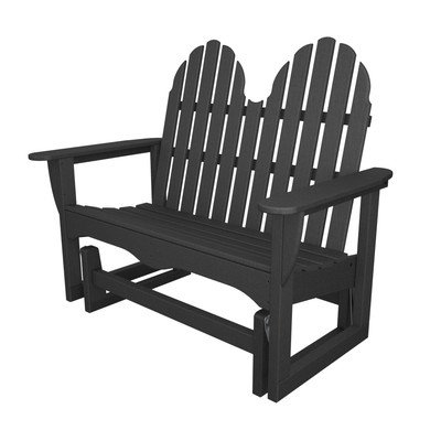 Adirondack Plastic Garden Bench Finish: Slate Grey ()