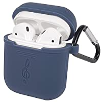 Apple AirPods Case,Wireless Earphone Scratch-Proof Protective Case Silicone Skin with Carabiner for AirPods Carrying Cover Case