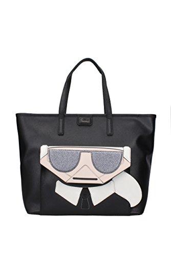 a Karl Karl Nero Borse Mano Mano Donna 66KW3091 a Lagerfeld PVC Borse Borse Nero PVC Donna 66KW3091 Lagerfeld wBBAq7I8