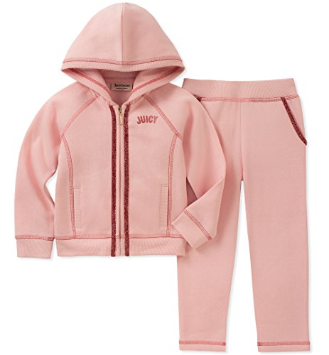 Juicy Couture Girls' Little 2 Pieces Jog Set, Pink, 6 by Juicy Couture