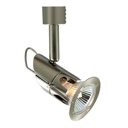Jesco Lighting HHV127SC Mini Deco 127 Series Line Voltage Track Light Fixture, Satin Chrome Finish
