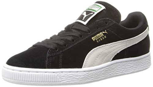 Suede Sneakers Athletic - PUMA Women's Suede Classic  Sneaker,Black/White,7.5 B US