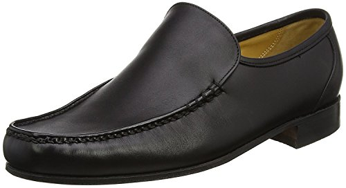 Barker Men's Javron Loafers Black V90Bens