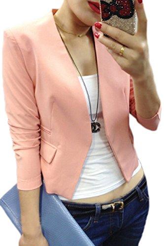 Rosa Manica Slim Giacca Donne 4 Giacche Le Aperta Sevozimda Della A Vestito 3 Ufficio Cappotto Davanti avZwwP