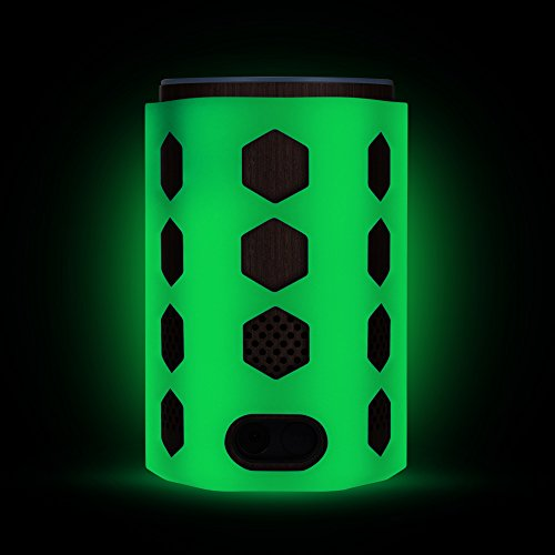 Silicone Case for Amazon Echo (2nd Generation), Protective Stand Cover Skin Sleeve, Anti-slip Hexagon Design, Impact & Drop Resistant, Precise Cutouts For Amazon Logo & Plug Hole (Glow Green) - Impact Dot