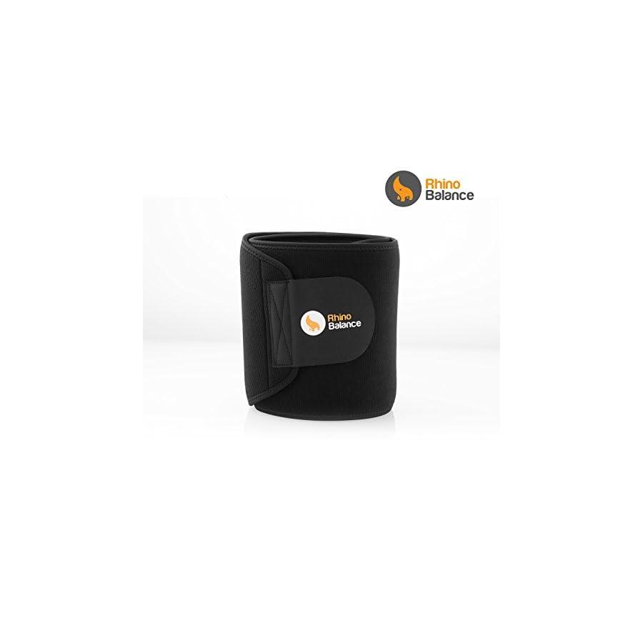 Premium Waist Trimmer Ultra Soft 3.5mm Neoprene Workout Sweat Belt. Sweet Ab Belt For Men & Women with Sauna Effect Waist Trainer Corset For Weight Loss Wrap Flex Belt with 2 Free Bonus Gifts!