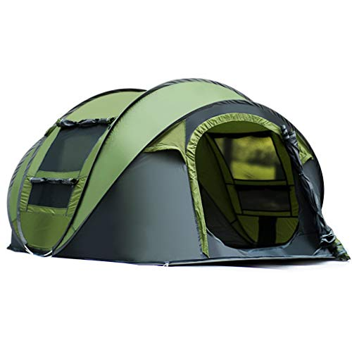 Camping Tent. 3 Person Family Instant Pop Up Dome Canopy is Lightweight, Portable. Best Outdoor, Hiking, Backpacking, Beach, Fishing, Hunting, Travel, Trip Gear, Equipment