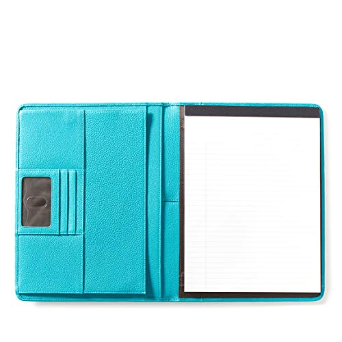 Leatherology Deluxe Portfolio - Full Grain Leather - Teal (Blue)