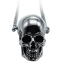 GANG SHI DAI Mens Boys Necklace Chain Pendant Necklace Stainless Steel Men Novelty Generous Silver Black Gothic Skull/Exclusive Animal Titanium Steel Pendant Necklace