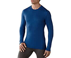 Smartwool Mens NTS Micro 150 Pattern Crew (Bright Blue) X-Large