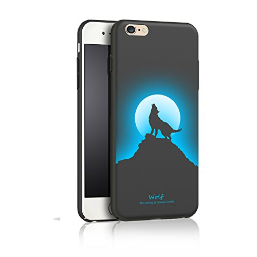 iPhone 6 Hard Matte Case, Full Protective Smooth Series SOUNDMAE Matte Surface Personalized Creative Design Plastic Back Cover for iPhone 6/6S 4.7 Inch, Wolf