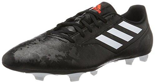 adidas Herren Conquisto II FG Fußballschuhe Schwarz (Core Black/ftwr White/solar Red)