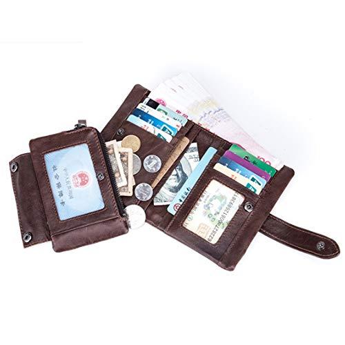 Verticale Staccabile Borsa Sezione Uomo Brown Pelle Con In Hinyyee Portafoglio Multifunzione Corta Fibbie Portamonete YFqRR