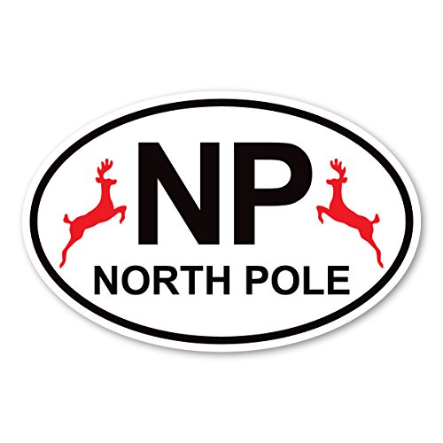 Magnet America North Pole Oval Decal