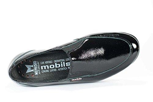 Mocassins Femme Semelle Amovible Mobils Bertrane Noir Oui E5qnz8