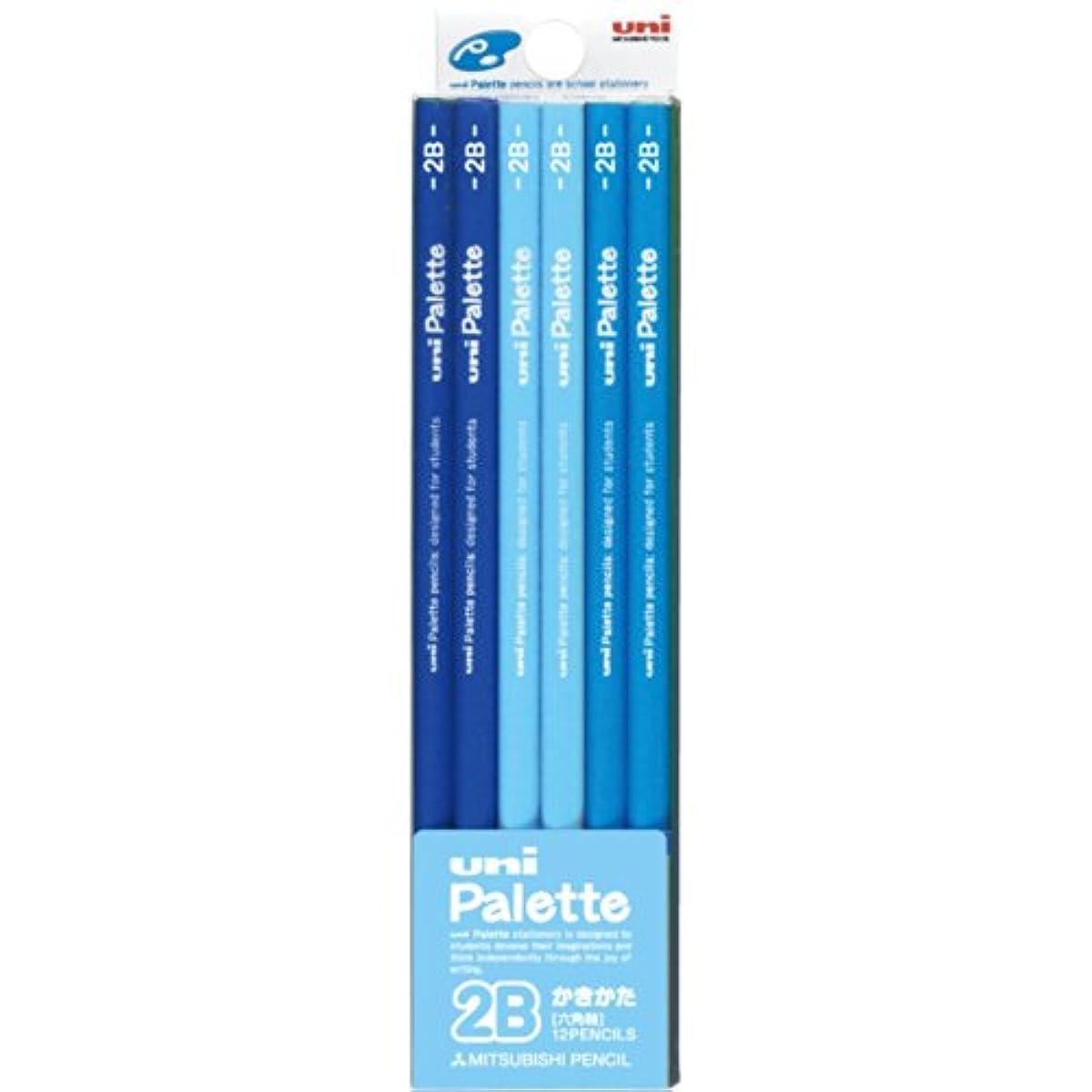 [해외] 미츠비시 연필 부족한 방법 연필 유니 팔레트 2B 파스텔 블루 1다스