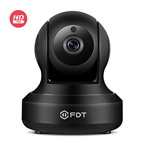 FDT 720P HD WiFi Pan/Tilt IP Camera (1.0 Megapixel) Indoor Wireless Security Camera FD7901 (Black), Plug & Play, Two-Way Audio & Nightvision by FDT