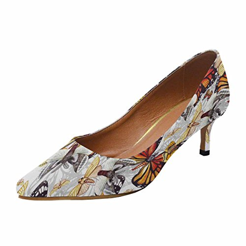 Scarpe Da Donna Low Cost Con Tallone Gattino A Punta Appuntita Scarpa Modello Farfalla Multi 1