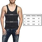 Odoland Men's Body Shaper Slimming Shirt Tummy Vest