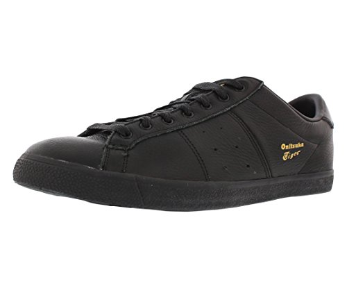 Onitsuka Tiger Lawnship Classic Tennis Shoe,Black/Black,9.5 M US Men's/11 W US Women's