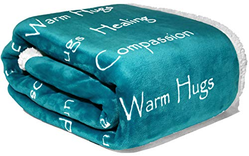 Compassion Blanket Thoughts Positive Throw Teal