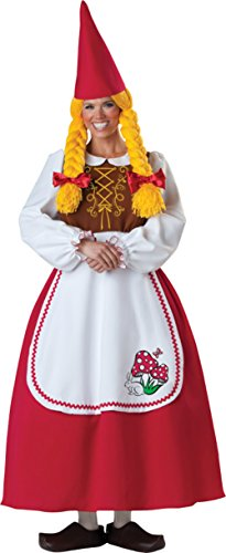 Mrs Garden Gnome Costumes (Mrs. Garden Gnome Adult Costume - Small)