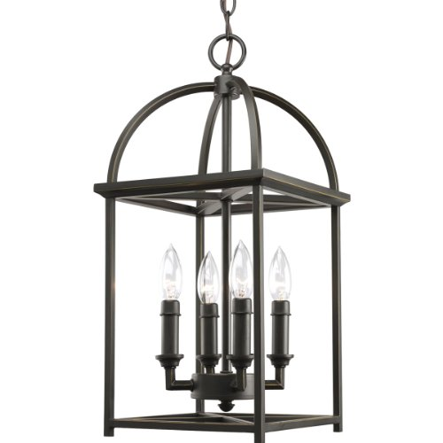 Progress Lighting P3884-20 4-Light Piedmont Foyer Lantern, Antique - Light Lantern Chandelier