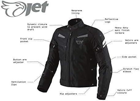 mittellang Jet Motorradjacke f/ür Herren gepanzert Textil multifunktional Schwarz Gr/ö/ße S Panther wasserdicht