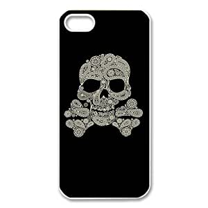 Custom Your Own Personalised Skulls and Bones Paisley Iphone 5 Best Durable Hard Cover Case