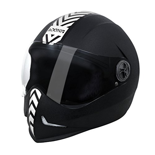 Steelbird 33242 Adonis Dashing Full Face Helmet (Black, L)