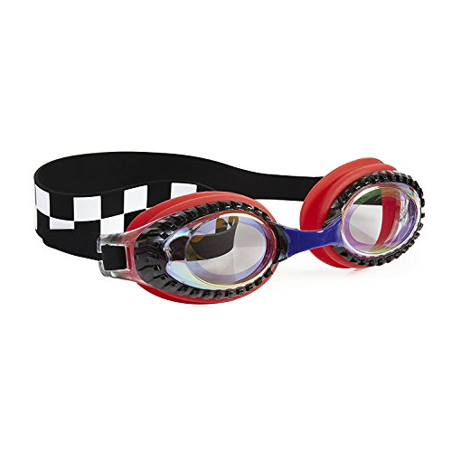 Boys - Drag Racer Red Checker Swim Goggles By Bling2o (Swimming Racer)