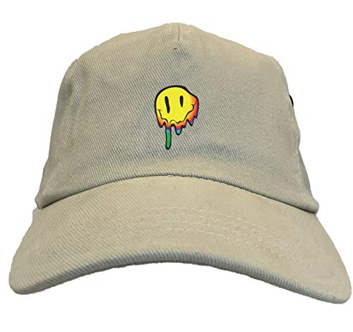 Tcombo Melting Smiley Face - Psychedelic Dad Hat (Stone) -
