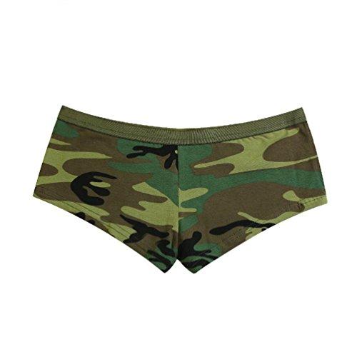 - Melonie clothing Ladies Woodland Camo Booty Shorts