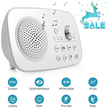 White Noise Machine, Portable Sleep Therapy Sound Machine, Sound Spa Relaxation - 8 Natural and Soothing Sounds - Optional Auto-Off Timer for Home, Office, Baby & Travel