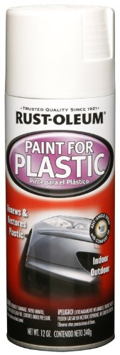 Rust-Oleum Automotive 248650 12-Ounce Paint For Plastic Spray, Gloss White