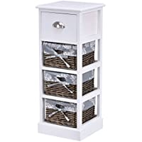 Giantex Wooden Bedside Table Nightstand Chest Cabinet Bedroom Furniture Storage Drawers (1)