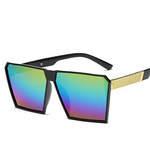 Aoligei Actuel grand cadre rétro carrés lunettes de soleil boîte de lunettes de soleil C