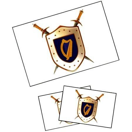 Ireland Shield Tattoos (Irish Flag Tattoos)