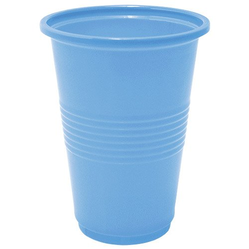 Nicole Home Collection 14 Count Plastic Cup, 16-Ounce, Light Blue