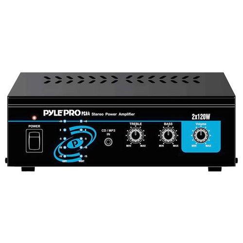 Pyle Pca4 240w Professional Mini Table Top Amplifier Amp 240 Watt