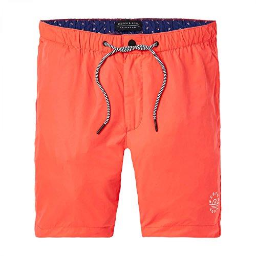 Scotch & Soda Badeshorts Men Basic Swim Short 142260 Blazing Red 1140 Orange