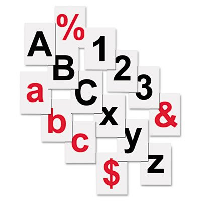Interchangeable Magnetic Characters, Letters, Red, 3/4''''h, Red, Sold as 1 Each