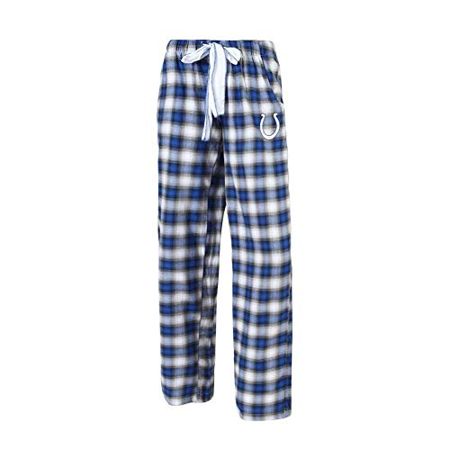 Concepts Sport Indianapolis Colts Womens Pajamas Flannel Plaid Pajama Pants (Large)