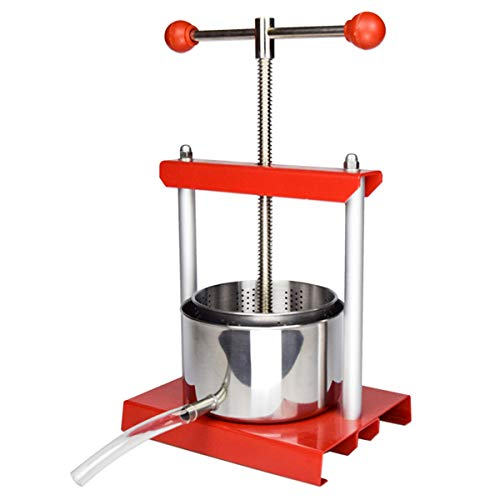 EJWOX 0.53 Gallon Stainless Steel Soft Fruit Wine Juice Press Cheese Making Press Tincture Press Herbal Press (Herb Grinder Press)